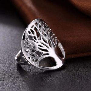 Boho Gypsy tree of life ring